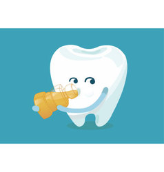 Gargle tooth vector image