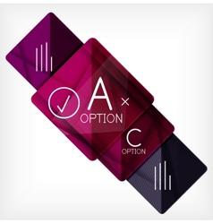 Geometric shaped option banner design template vector