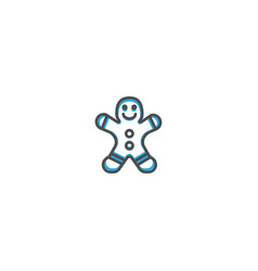 gingerbread icon design gastronomy icon vector image