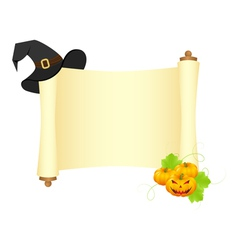 halloween scroll vector image