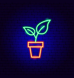 home plant neon sign vector image