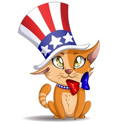 independence day kitten vector image