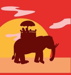 Indian elephant design vector