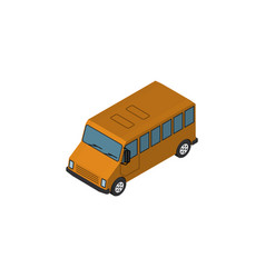 Isolated bus isometric autobus element ca vector