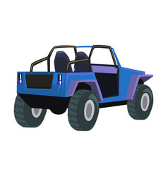 jeep car off road vehicle delivery vector image