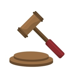 Justice gavel isolated icons over white vector image
