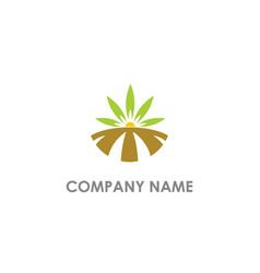 landscape nature organic logo vector image