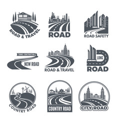 Logos with curved pathways and place for your text vector