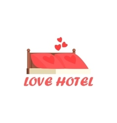 Love hotel cartoon style icon vector
