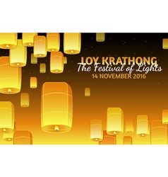 Loy Krathong greeting card vector