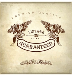 Luxury premium quality and guarantee label design vector