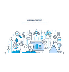 management organization of working process time vector image