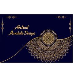 Mandala design background vector