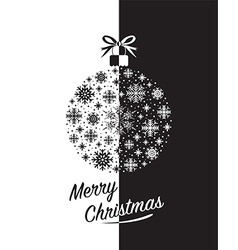 merry christmas black vector image