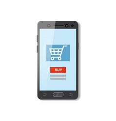 Mobile shopping e-commerce online supermarket vector