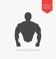 Muscle body icon Bodybuilding concept Flat design vector image