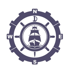nautical vintage icon vector image