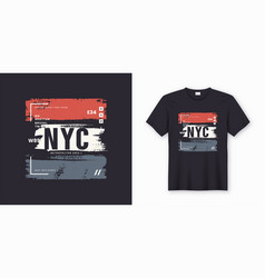 new york city stylish t-shirt and apparel abstract vector image