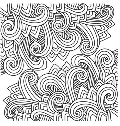 Outline abstract doodle pattern vector