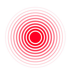 Pain concentration icon red circles symbol vector