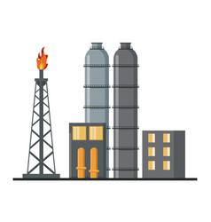 Petroleum machinery factory vector