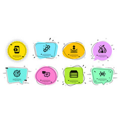 Phone payment dollar exchange and servers icons vector