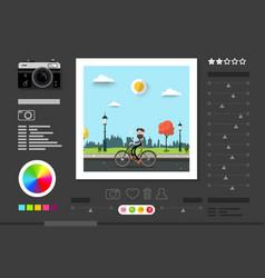 photo editing software screen abstract vector image