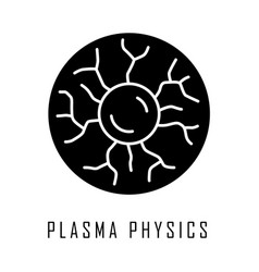 Plasma physics glyph icon high energy state vector