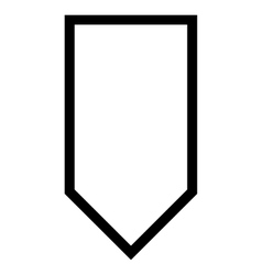 Pointer down outline icon vector