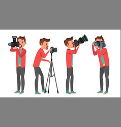 professional photographer male in vector image