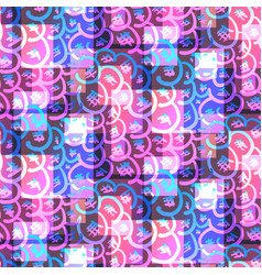psychedelic bright pink and blue glitter pattern vector image