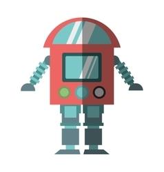 robot cyborg machine futuristic shadow vector image