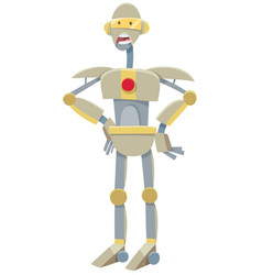 Robot or droid cartoon character vector