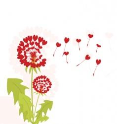 Romantic dandelions vector