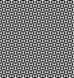 Seamless geometric monochrome curved shape pattern vector image