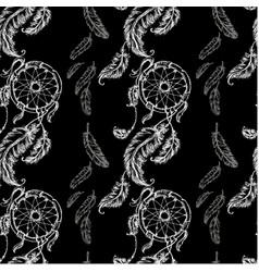 Seamless pattern dreamcatcher vector