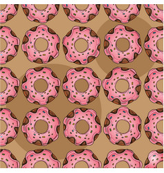 seamless pattern from multi-colored donuts in a vector image