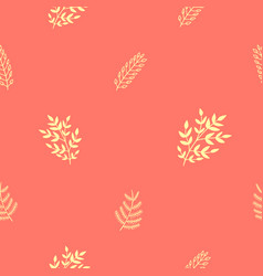 Seamless pattern with golden brunches and flowers vector
