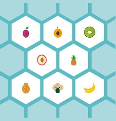 Set of fruit icons flat style symbols with vector