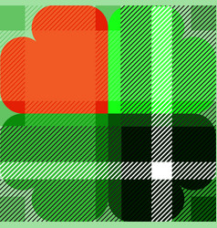 Shamrock scott pattern st patrick day vector