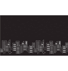 Silhouette of city collection stock vector