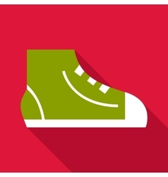 Sneaker icon flat style vector image