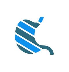 Sore human stomach colored icon abdominal vector