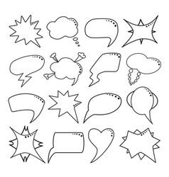 speech bubbles set thin line style vector image