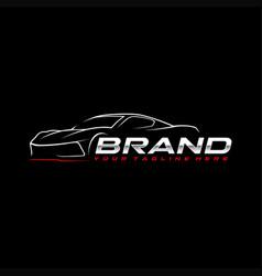 sport car logo template vector image