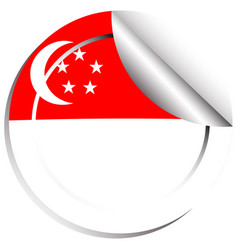 sticker design for singapore vector image