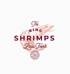 the king shrimps abstract sign symbol or vector image