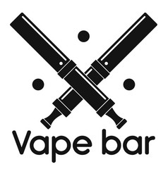 trendy vape bar logo simple style vector image