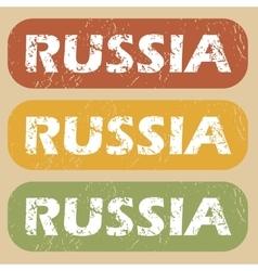 Vintage Russia stamp set vector