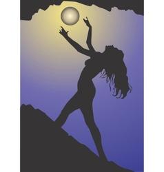 Black magic woman vector image vector image